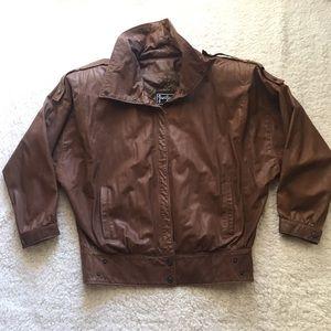 Vintage Brown 100 % Leather Jacket